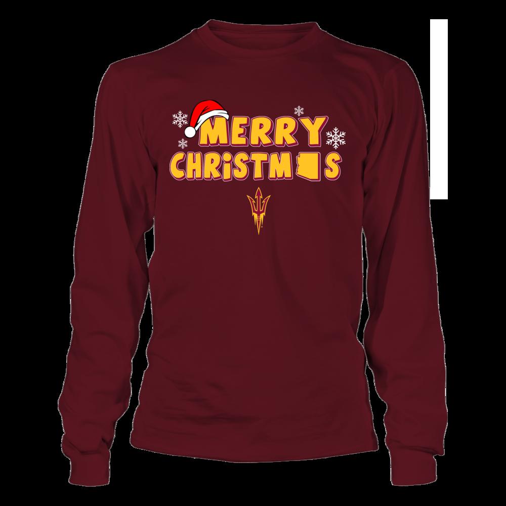 Arizona State Sun Devils Merry Christmas Logo Arizona