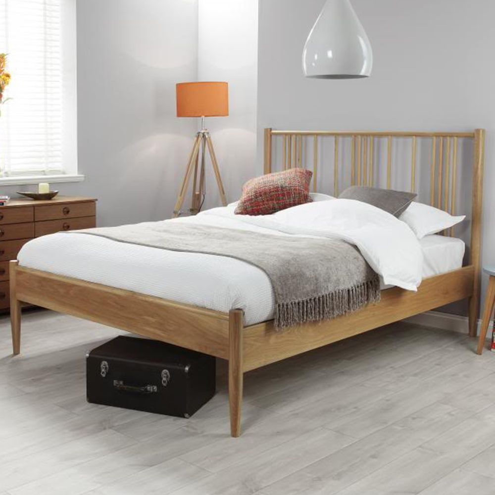 The contemporary Hamilton bed frame is finished