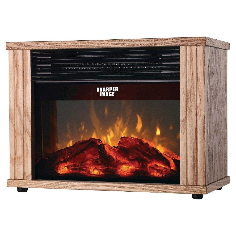 sharper image electronic fireplace heater brown favorite rh pinterest com au