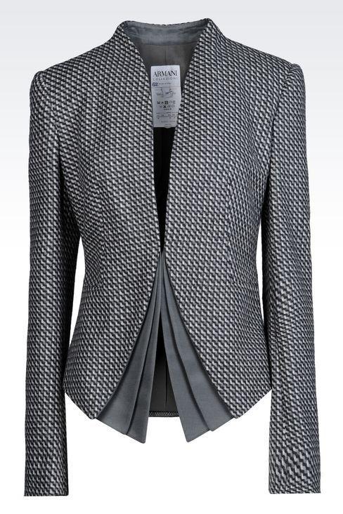 17c105b0ef Armani Collezioni Women Dinner Jacket - JACKET IN WOOL AND CASHMERE Armani  Collezioni Official Online Store