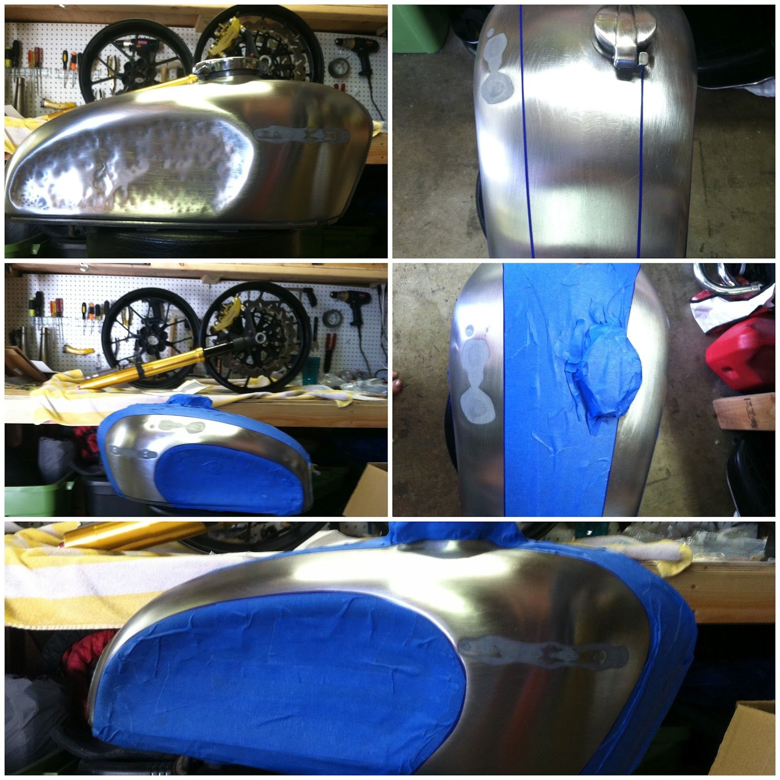 How To Make A Cafe Racer Tank With Knee Dents The New Ride Cafe