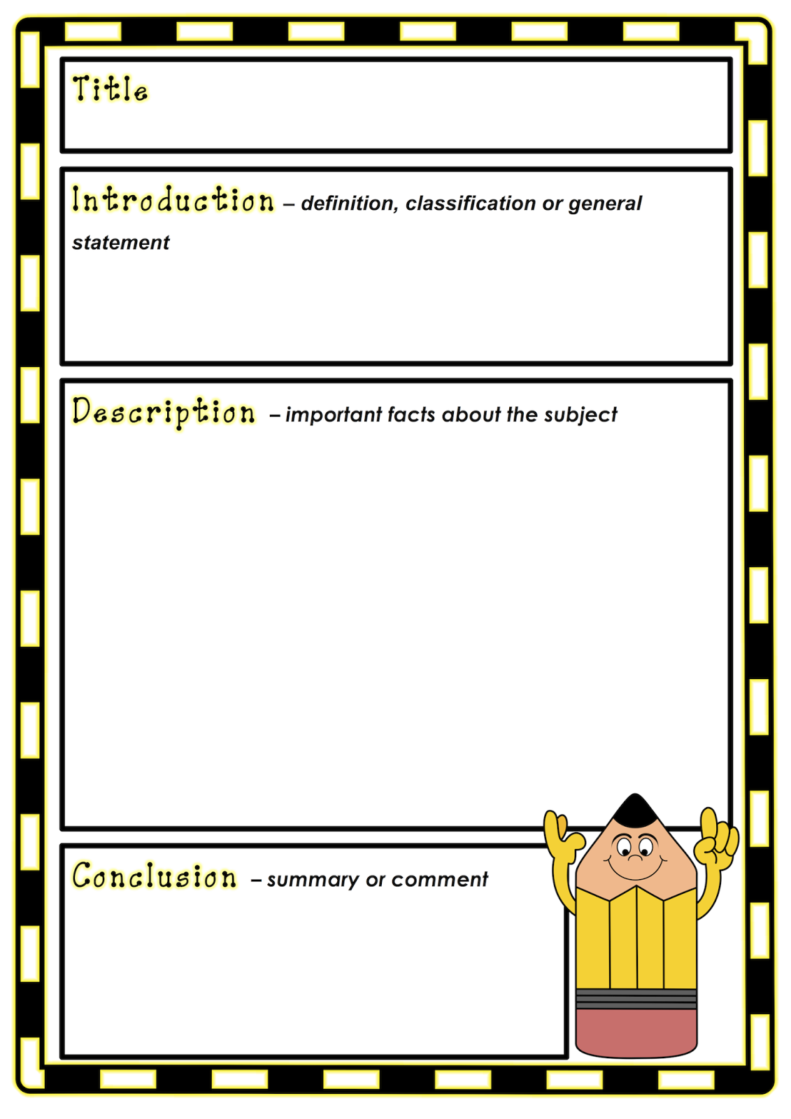 Blank report writing text organiser. Free and printable from ...
