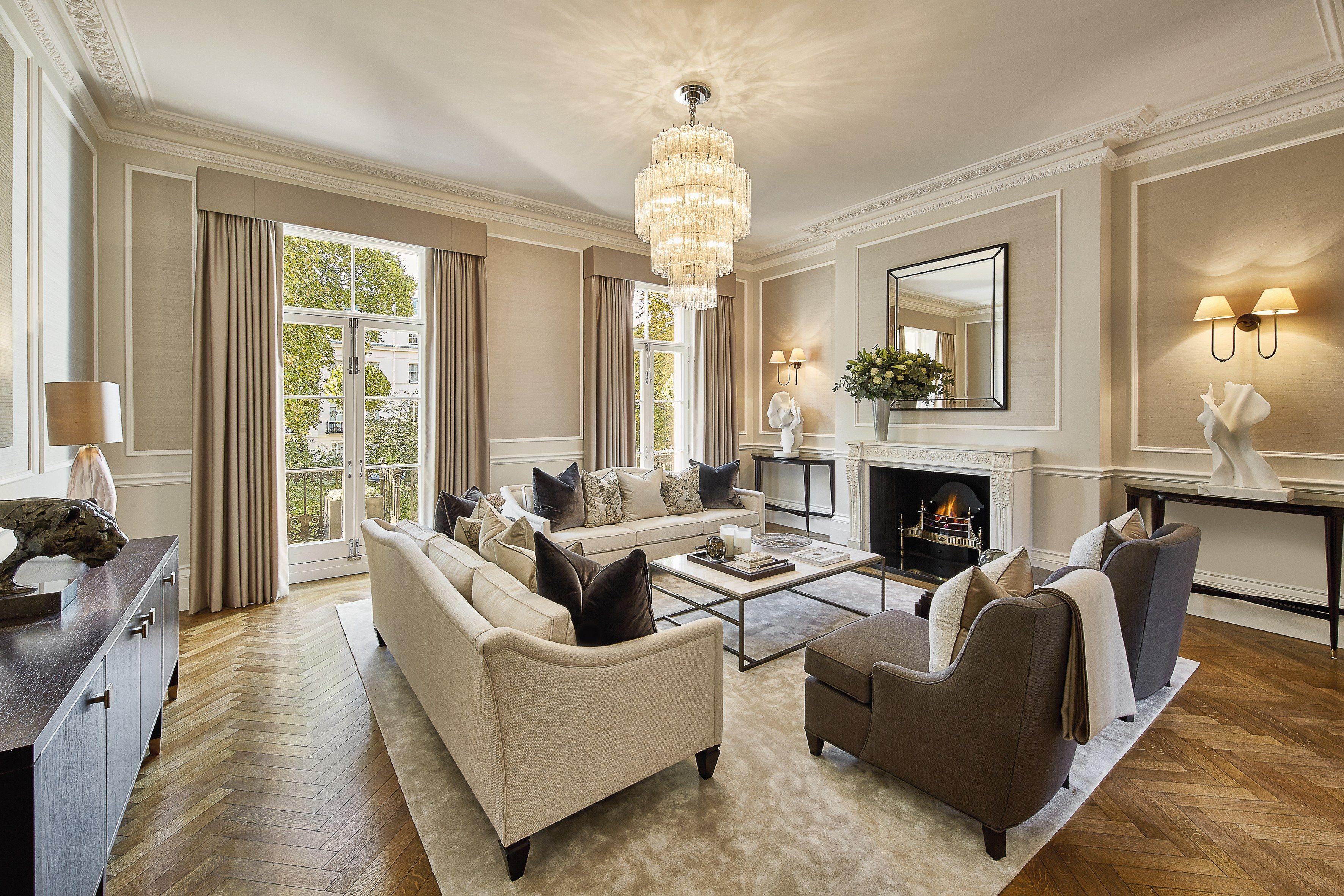 Margaret Thatcher S House Is For Sale For 41 Million Georgian Interiors Luxury Living Room New Living Room