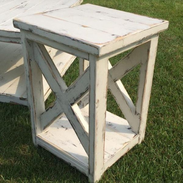 Farm Style End Tables Or Side Tables Furniture Pinterest Nail
