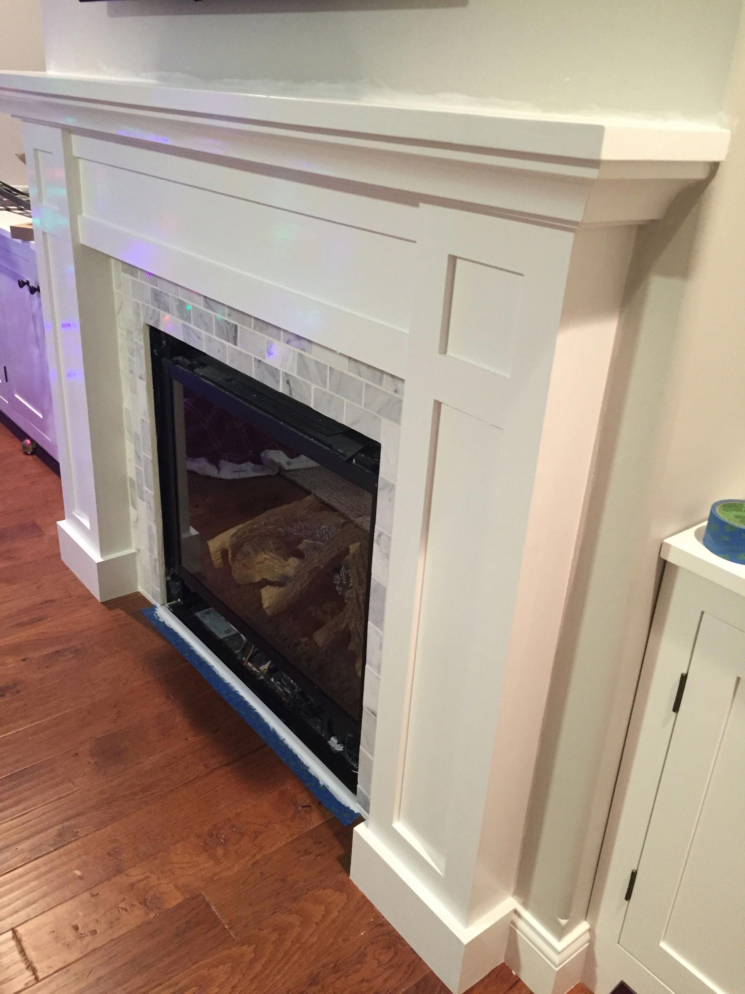 how to build a built in part 2 of 3 the fireplace mantel and rh pinterest com