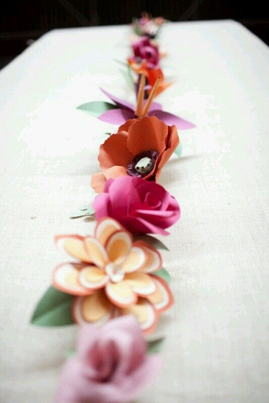 Paper flower garland for a wedding paper rose garland pinterest paper flower garland for a wedding mightylinksfo