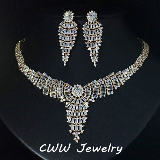 evening necklace sets for women