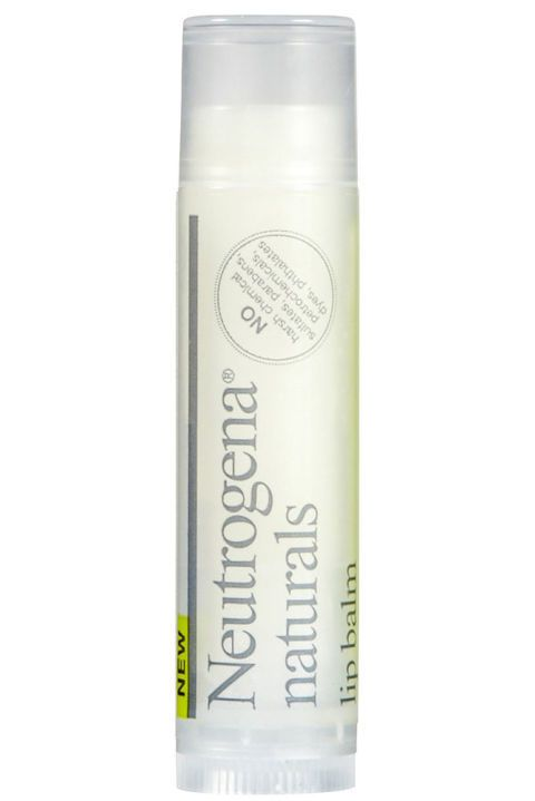 Made with 100% natural ingredients such as jojoba seeds and olive oil, and housed in100% recycled packaging, this balm is an eco superstar. Vitamin E soothes lips while essential moisture protects for future dryness. Neutrogena Naturals Lip Balm, $2.99; neutrogena.com.