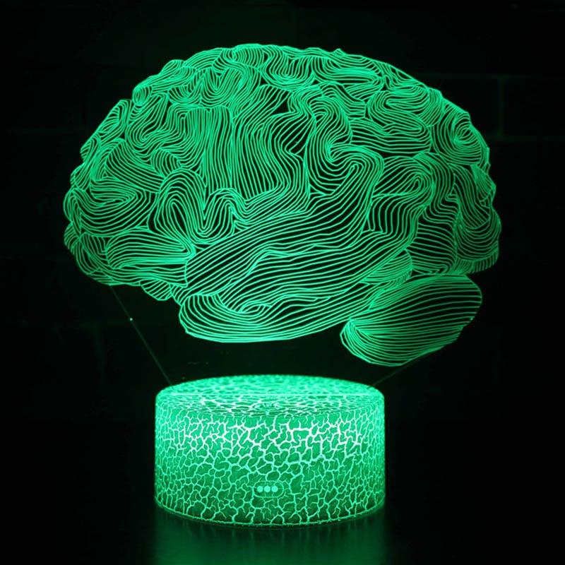 Brain Design 3d Illusion Lamp 3d Illusion Lamp 3d Illusions Steel Art