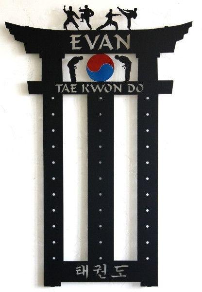 Martial Arts Belt Holder: Taekwondo Belt Display: Karate ...