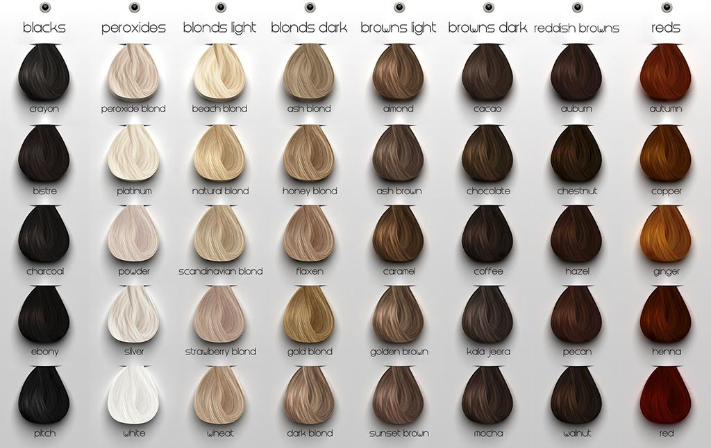 Ash Hair Color Chart Google Search Pinteres