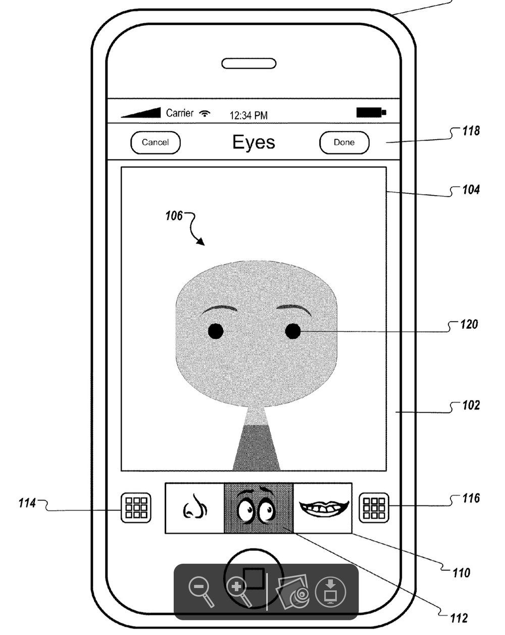 Patent report an avatar editing app, a Mac compatible