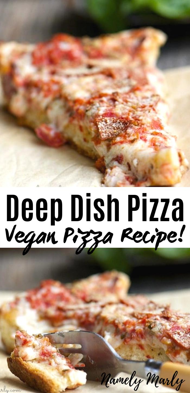 Photo of Vegan Deep Dish Pizza Recipe