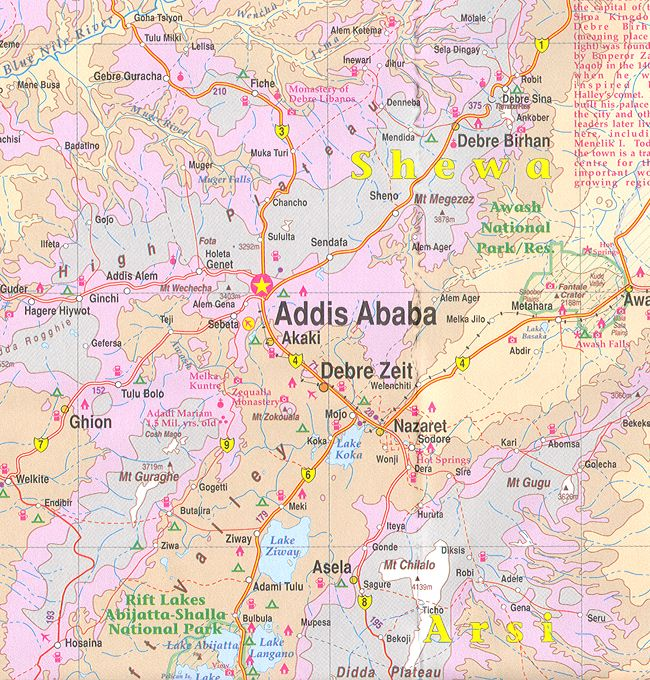 Where Is Ethiopia in Africa here is a Map of Ethiopia in detail