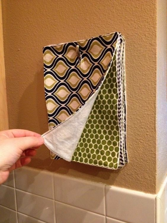 brilliant DIY projects to produce less and less garbage in your life  These reusable DIY kitchen towels may even encourage your roommates to grab this variant instead of...
