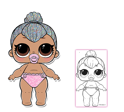 Lol Surprise Doll Coloring Pages Page 7 Color Your Favorite Lol Surprise Doll Lol Dolls Cool Coloring Pages Baby Binky