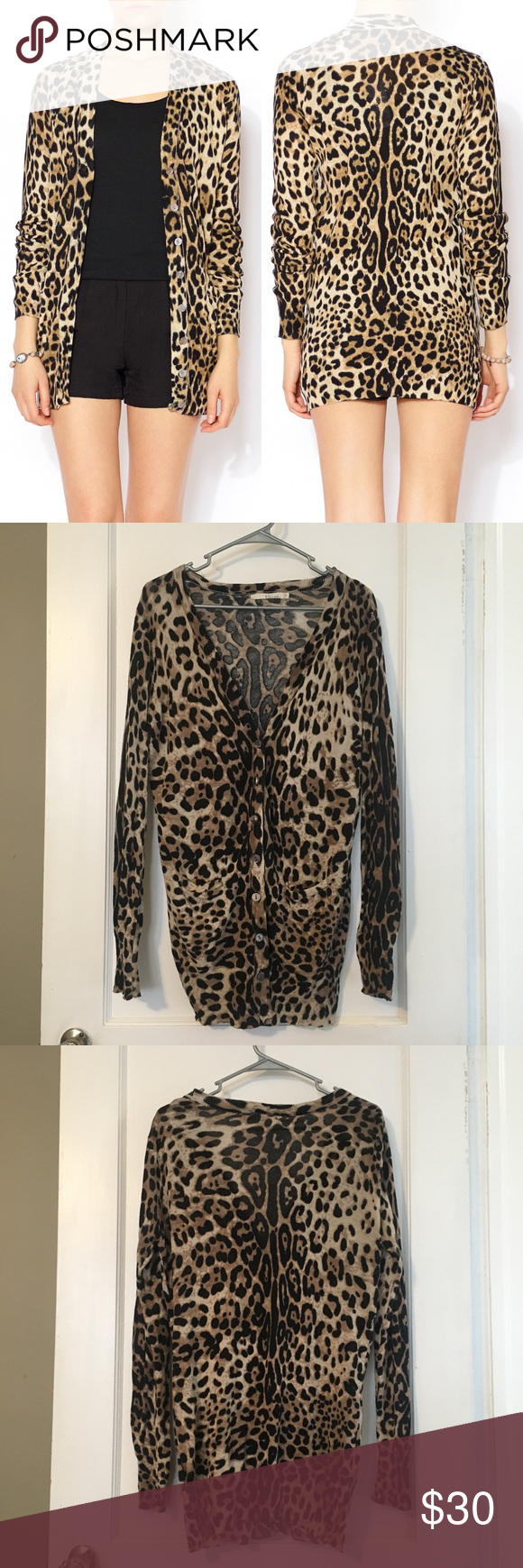 Ellison Long Sleeve Leopard Print Cardigan | Leopards, Cotton and ...