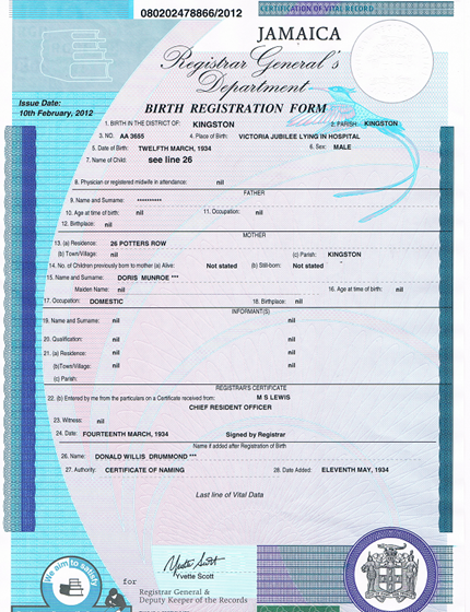 How To Apply For Your Jamaican Birth Certificate The Returnee