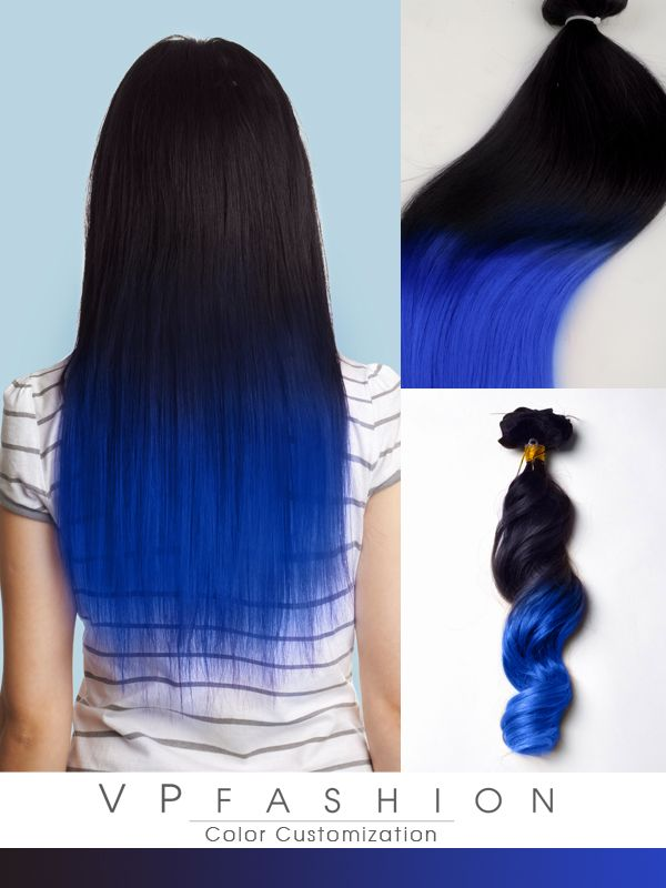 Top 5 Black Brown Hair Extensions With Blue Tips On Blog Vpfashion Com Hair Color For Black Hair Hair Styles Dip Dye Hair