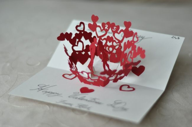Very Cute Pop Up Valentine Cards Pop Up Card Templates Heart Pop Up Card