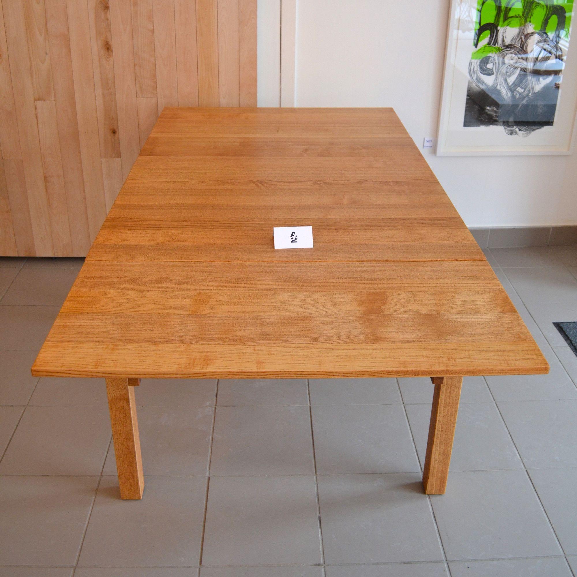 Mid century modern table carr e avec rallonges home Table moderne avec rallonge