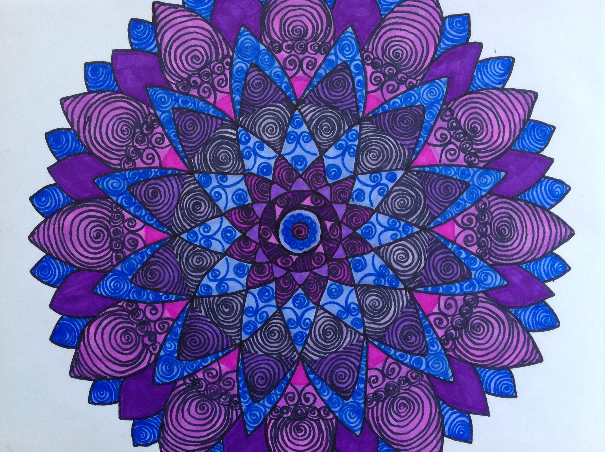 Swirl mandala by Laurie Allen