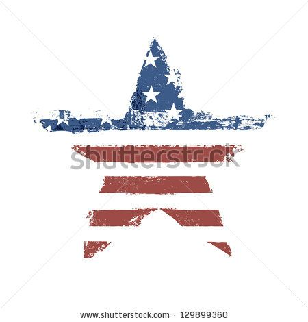 Vector Flag Symbol | ... flag print as star shaped symbol. Vector, EPS10. - stock vector