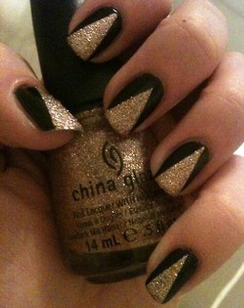 Easy gold nail polish designs for short nails easy nails easy gold nail polish designs for short nails prinsesfo Images