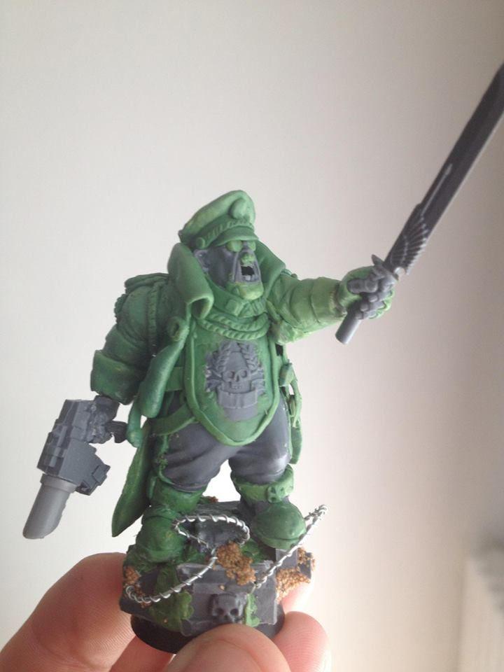 Ogryn commissar | 40k Conversion / green stuff ...