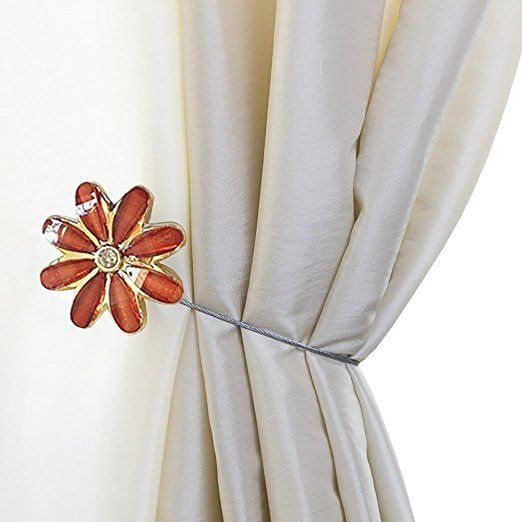 Amazon Com Sunonline Diamond Flower Window Curtain Tieback Buckle