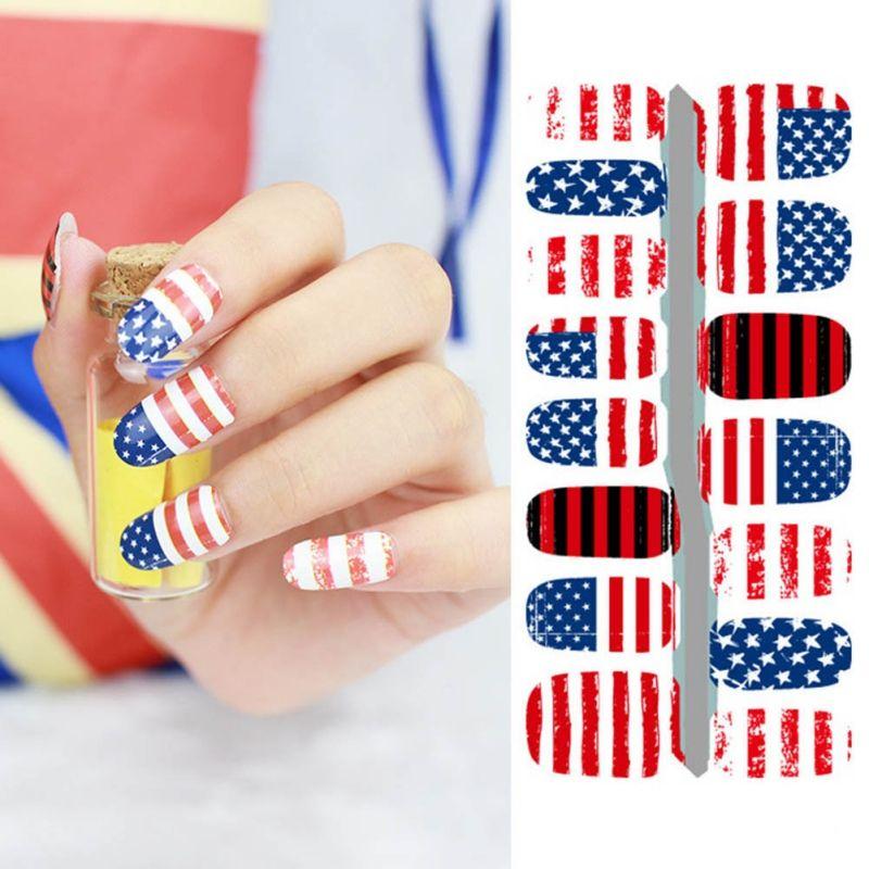 2017 Diy Nail Art Stickers Fantacy Impressionism Usa Flag Fashion
