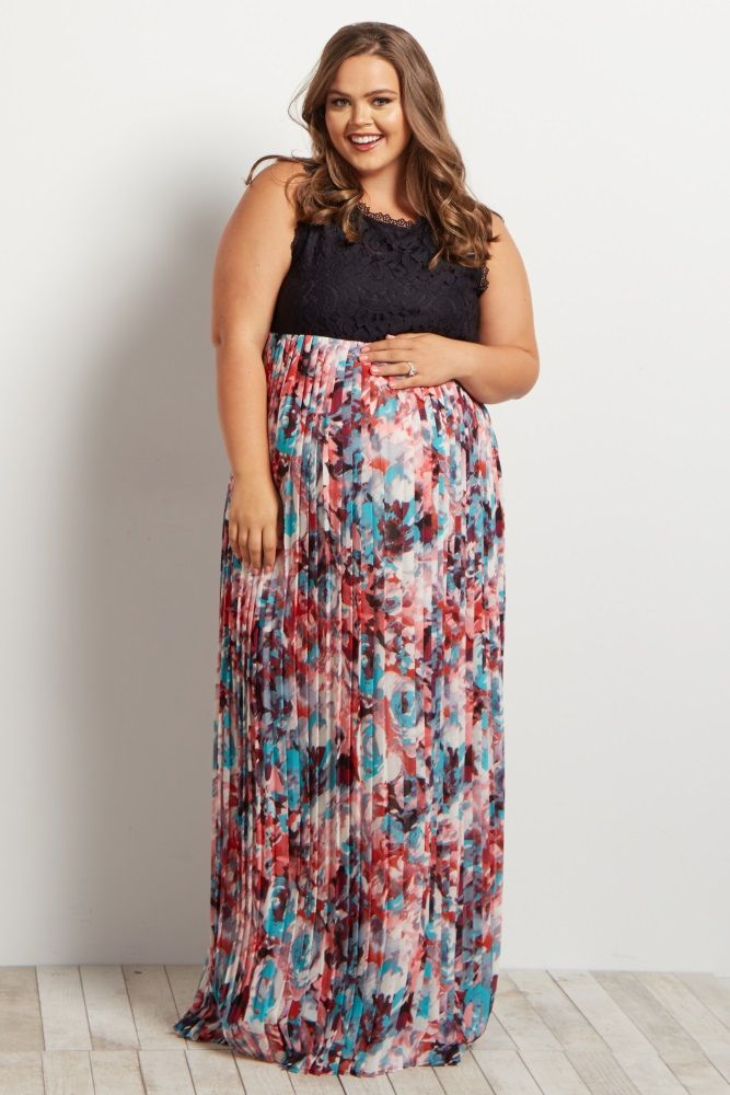 Plus size multi colored maxi dresses
