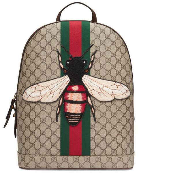 e2c465e7a44f Gucci Web Animalier Backpack With Bee ($1,445) ❤ liked on Polyvore  featuring men's fashion, men's bags, men's backpacks, backpacks, bags, men,  gucci mens ...