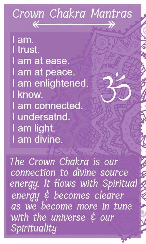 Crown mantras | Chakra | Chakra mantra, Chakra meditation, Chakra