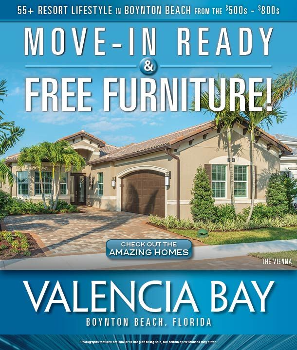 Free Furniture and Move-In Ready Homes at #Valencia Bay by #GLHomes