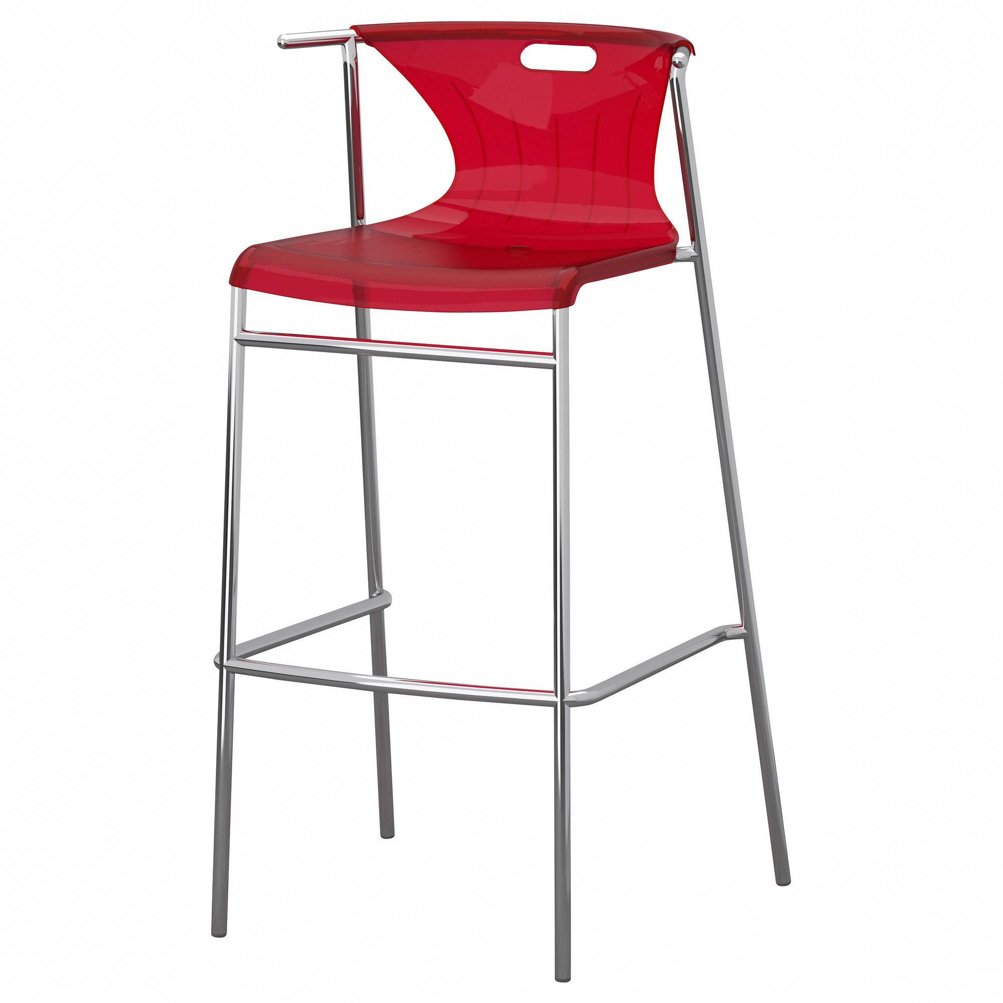 Phenomenal Elmer Bar Stool With Backrest Red Chrome Plated Cjindustries Chair Design For Home Cjindustriesco