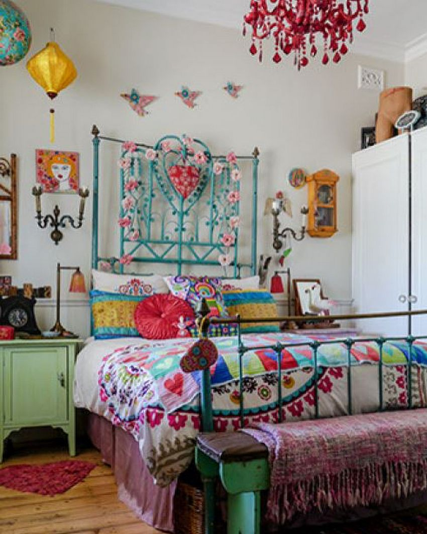 Another captivating boho chic style bedroom plan is