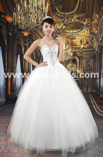 Attractive Ball Gown Sweetheart Floor-Length A-Line Wedding Dress