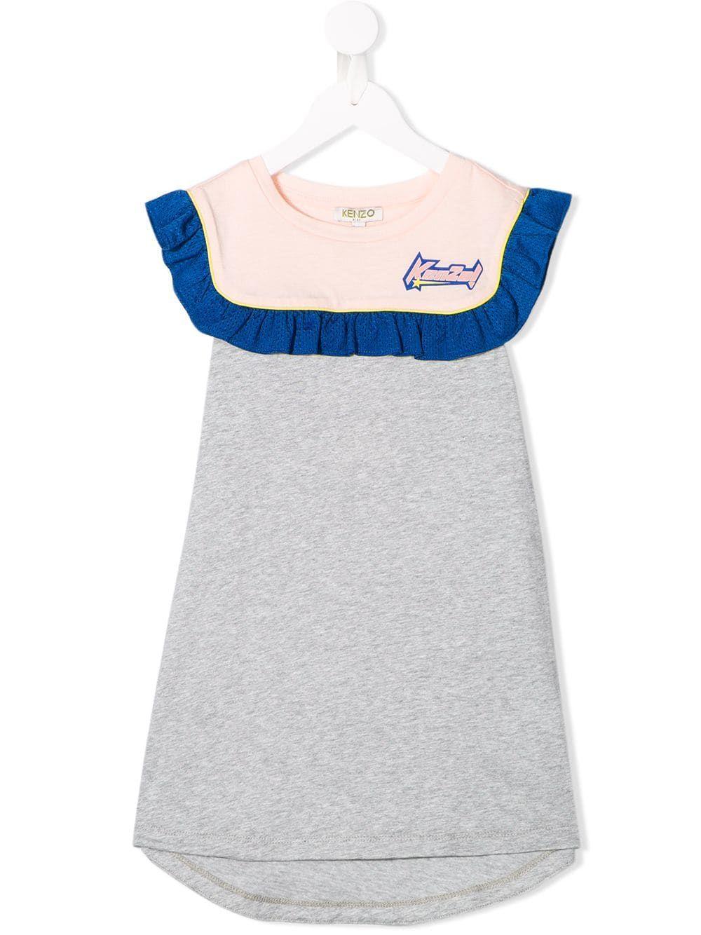 96bea8977 Kenzo Kids Racing dress - Grey in 2019 | Products | Girls designer ...