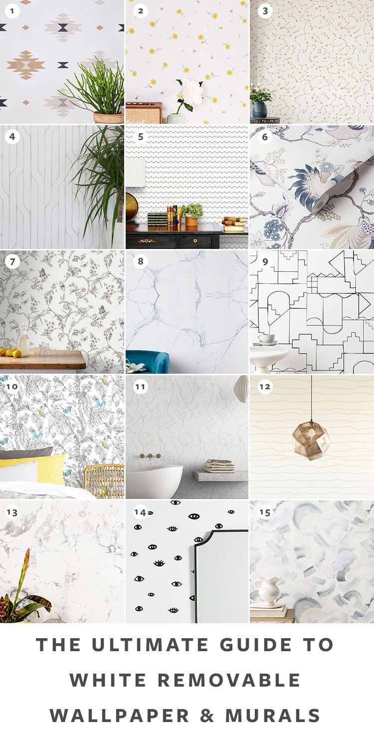 The Ultimate Guide To Removable Wallpaper The Best Patterns Removable Wallpaper Grey Removable Wallpaper Trendy Paint Colors