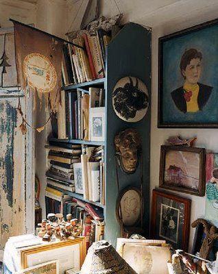 Intriguing clutter. Carter Berg