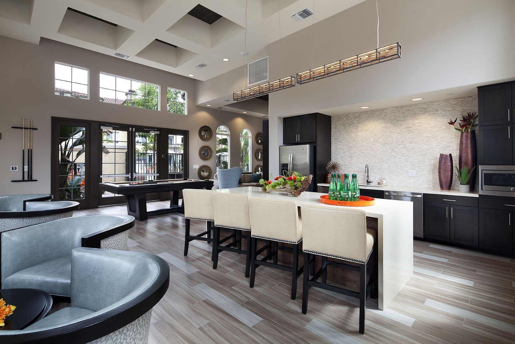 Resident Lounge With Dining Room And Adjoining Kitchen Perfect For Entertaining Guests At Capriana