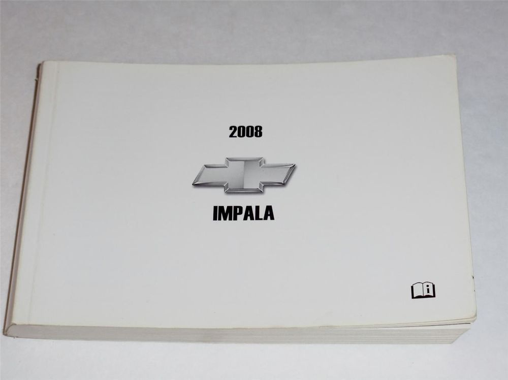 2008 Chevrolet Impala Owners Manual Book With Images Owners