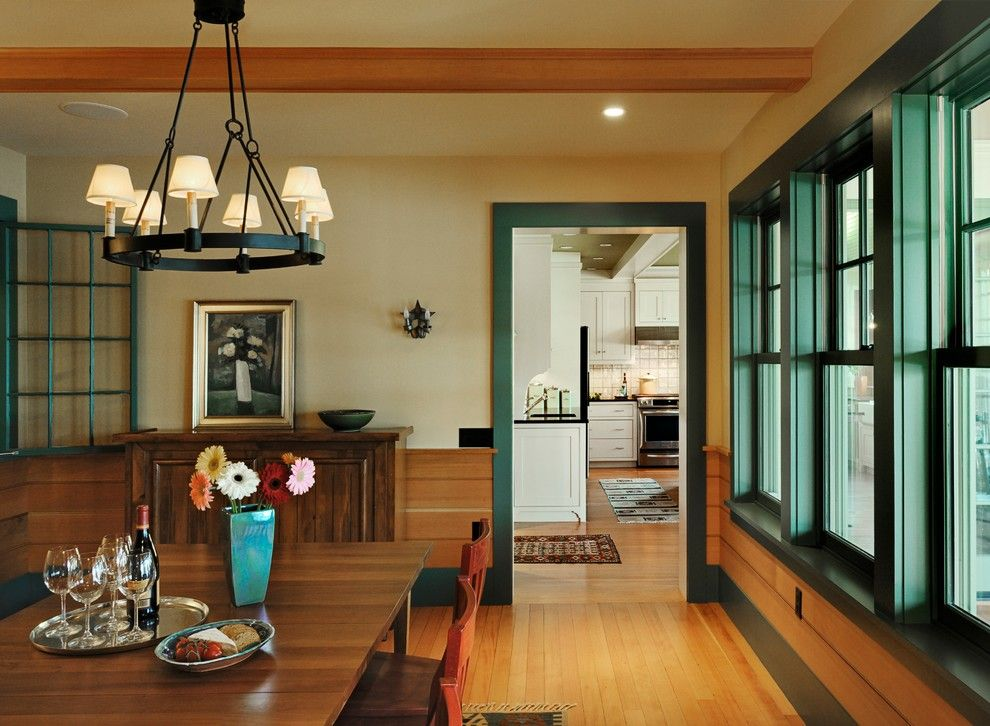 engaging blue green home interior design rustic dining room