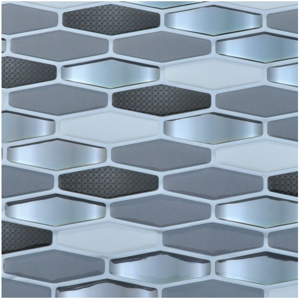 Diamond Wall Tile Peel And Stick Backsplash For Kitchen 5 8 Sq Ft