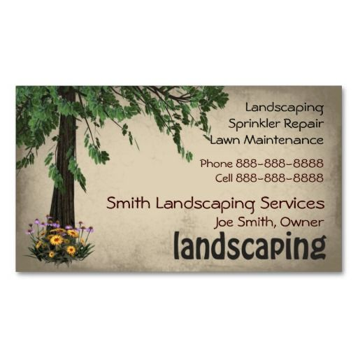 Landscaping Lawn Care Services Business Card Lawn Care Business