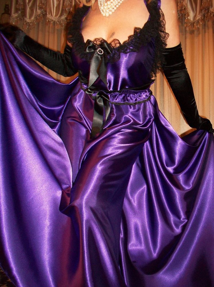 764c04438c2 Vtg Purple Black Lace Long 200