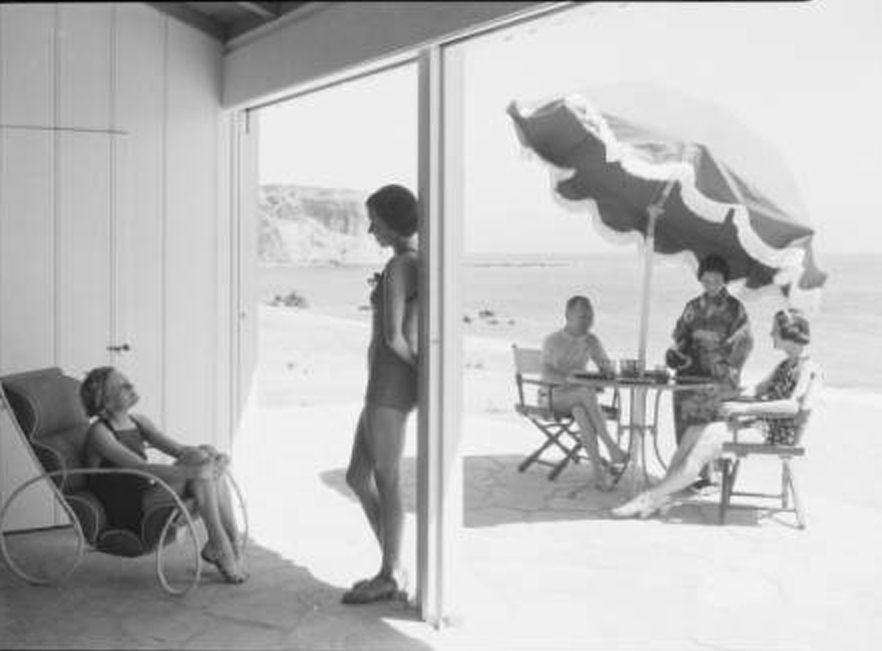 PALOS VERDES:  1935 Abalone cove bathers in Palos Verdes.