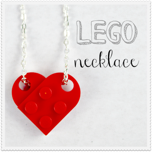 How to Make a Lego Necklace   Valentine's Day   Lego ...
