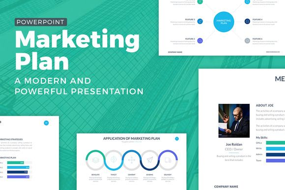Marketing Plan Powerpoint Template by SlidePro on Creative Market - marketing strategy template